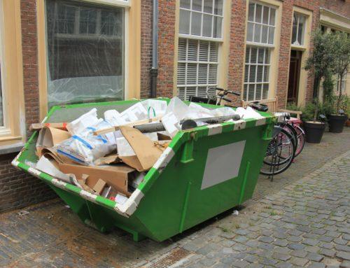 Контейнер под наем за изхвърляне на стари мебели